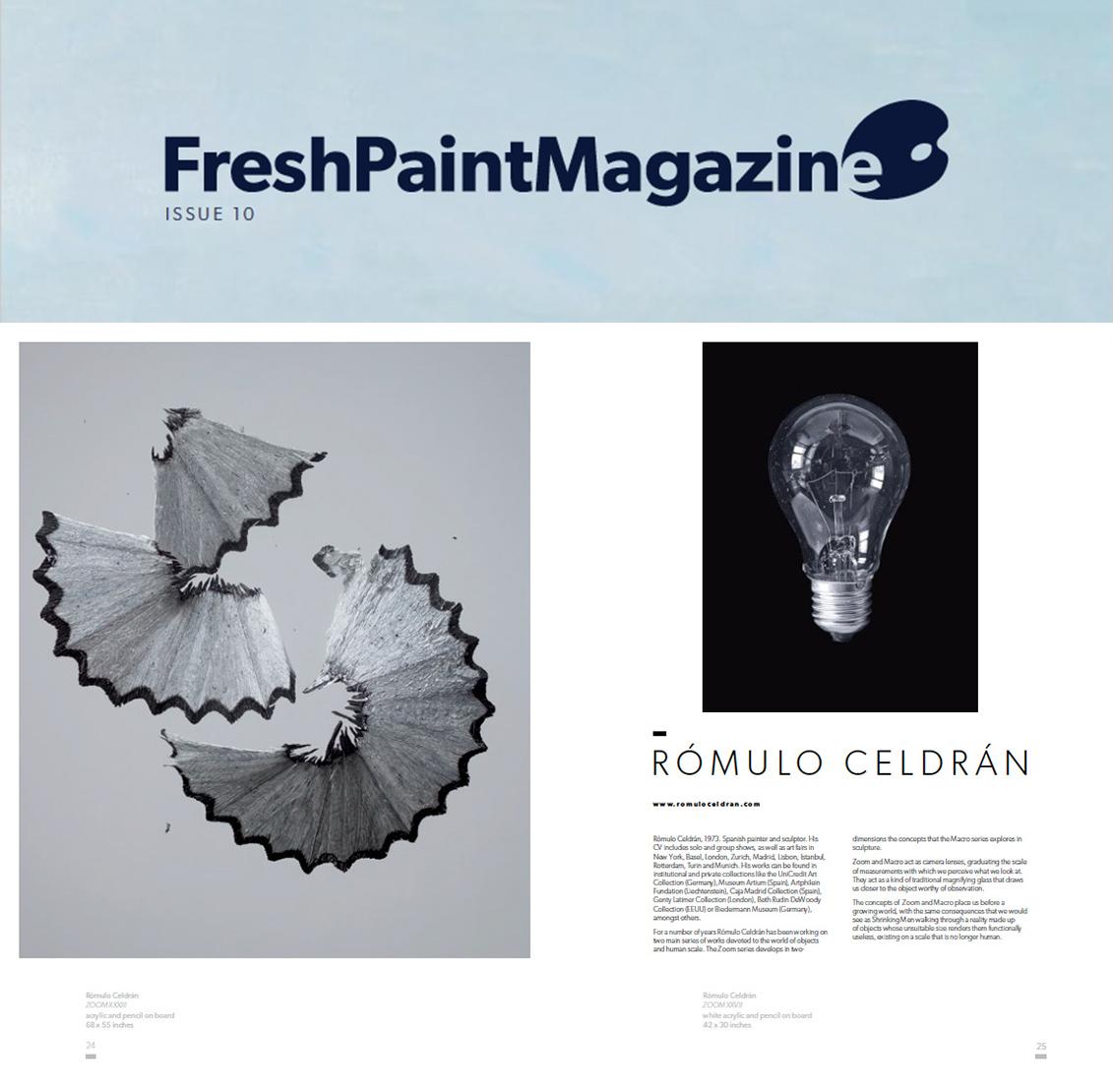 Rómulo Celdrán en Fresh Paint Magazine